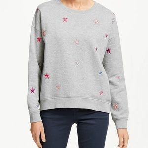 Boden Metallic Scattered Stars Sweatshirt NEW!